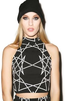 Long Clothing Infinity Sleeveless Crop Top   Dolls Kill