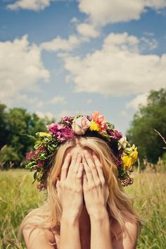 Flower crown- If i had a flower for every time i thought of you, I would walk in my garden forever