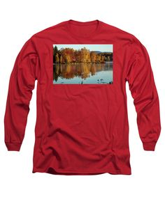 #jefffolger Long Sleeve T-Shirt featuring the photograph The Point Of Maine Fall Colors by Jeff Folger