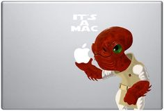 I believe, this was available on Etsy at some point but I can't seem to find it now. Macbook Decal, Laptop Decal, Admiral Ackbar, Star Wars Love, Love Stars, Chewbacca, Just For Fun, Disney Characters, Fictional Characters