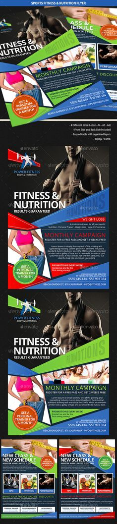 Fitness Flyer Promotion, Flyer template and Template - fitness flyer