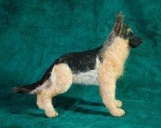 German Shepherd Custom Needle Felted  Dog by FurryMemories on Etsy