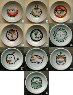 dishes #31-40 by laurageorge, via Flickr