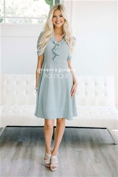 Dainty Ruffle Maxi Dress, Modest Dress, Bridesmaids Dress, Church Dresses, dresses for church, modest bridesmaids dresses, trendy modest dresses, modest womens clothing, affordable boutique dresses, cute modest dresses, cute modest clothes