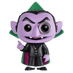 Sesame Street - The Count: From Sesame Street, The Count, as a stylized POP vinyl from Funko! Figure stands 3 inches and comes in a window display box. Check out the other Sesame Street figures from Funko! Funko Pop Dolls, Funko Pop Figures, Vinyl Figures, Daddy Yankee, Elmo, Sesame Street The Count, Disney Play, Pop Goes The Weasel, Graf