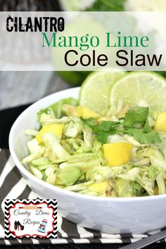 ... slaw…..Mexican Slaw with Mango and Avocado with Cumin Dressing