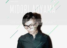 MIDORI AOYAMA #webdesign #inspiration #UI
