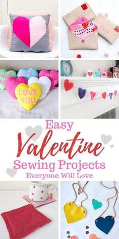 For Women Easy Valentine Sewing Projects Everyone Will Love – Orange Bettie Easy Valentine Sewing Projects Sewing Patterns For Kids, Sewing Projects For Beginners, Modern Sewing Projects, Valentine Day Crafts, Valentine Decorations, Valentine Ideas, Valentine's Day Diy, Handmade Gifts, Handmade Valentine Gifts