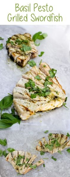 #ad This Basil Pesto Grilled Swordfish is a quick, easy, and flavor-packed main course that's perfect for barbecues and cookouts!
