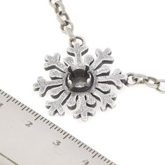 29ss Snowflake Pendant Almost finished Necklace | Gita Jewelry