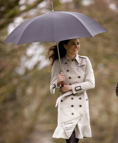 The 40 Chicest Women in Trench Coats of All Time: Kate Middleton, 2011