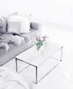 Marble coffee table in living room space. My Living Room, Home And Living, Living Room Decor, Unique Coffee Table, Coffee Table Design, Living Room Inspiration, Home Decor Inspiration, Decor Room, My New Room