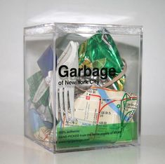 NYC garbage in a box: Feel like blowing $50 on trash? (Literally.) Not sure how I feel about this, but I suppose it is a form of reuse.