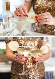 French Pear Martini from Style Me Pretty   //   FOXINTHEPINE.COM