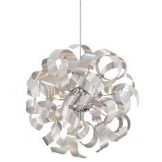 "Platinum RBN2817 Ribbons 5 Light 17"" Wide Globe Pendant"