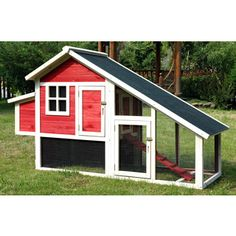 Merry Products Red Habitat Chicken Coop | Overstock.com Shopping - The Best Deals on Other Pet Houses