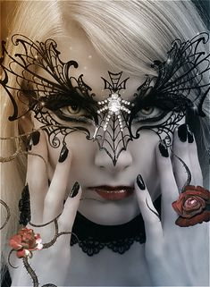darkness664:    Lovely mask…LET'S COME UP WITH AN EVERYDAY MASK FOR THE AVERAGE HOUSEWIFE???