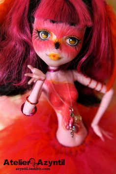 OOAK Custom Monster High Repaint Pinkie Ingo by by Azyntil