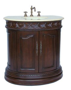"Enjoy this beautiful and luxurious Litchfield bathroom sink vanity cabinet. Given the elegance, durability, beautifully detailing and the high-quality workmanship, it worth every single bit of the low price. This Litchfield vanity is all hardwood construction, counter top is made of the highest quality that will resist prolonged exposure to humid conditions and has long life durability. Biscuit under mount basin. 2 front doors with large storage compartment. 8"" spread 3 holes; faucets sold…"