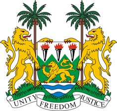 Sierra Leone - Heraldry of the World, Crest, Coat of arms, Heraldry Sierra Leone, Van Diemen's Land, National Animal, The Beautiful Country, Beautiful Places, West Africa, South Africa, Coat Of Arms, Sticker Design