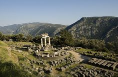 Tholos at Delphi: Second to the Acropolis in Athens, Delphi is Greece's most popular archaeological site. Located about two and half hours from Athens along the slopes of the awe-inspiring Mount Parnassus, Delphi was once revered by the ancient Greeks as the center of the earth.