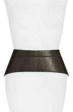 Raina 'Peplum' Leather Corset Belt