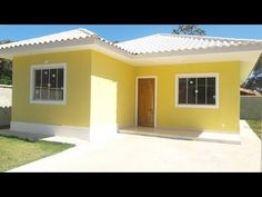YouTube Flat Roof House Designs, Small House Design, Modern House Design, Paint Colors For Home, House Colors, 2 Bedroom House Plans, House Construction Plan, Modern Bungalow House, Simple House Plans