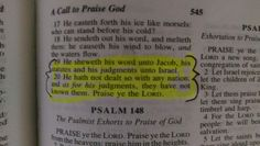 Psalm 147: 19-20 Only Jacob Hebrew Israelites. The ordinance to speak forth truth out of the Holy Word of Yah was given to Black Hebrews. This is why there is so much misinterpretation of scripture now (OUR BLACK HEBREW HISTORY BOOK) because nations of gentiles have been spreading pagan, unbiblically-based, carnal doctrine. If Christianity were the ticket, the world would't have the ability to be going to Hell in a hand basket now. Black Hebrews arise & take your rightful position as true…