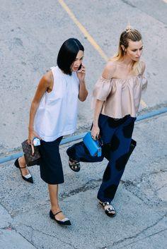 fashionable friends. #NicoleWarne & #NatalieCantell in Sydney. #GaryPepper