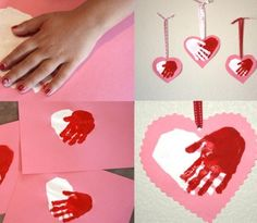 Cute for students to make for their family.  Easy Handmade Valentines day card photos.