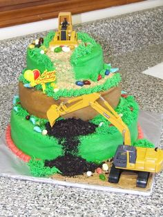 Construction cake-----  I could definitly manage this one.  @Jennifer Urcho