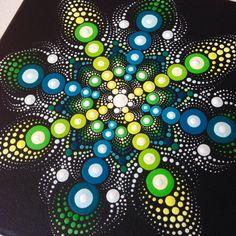 Mandala Malerei, Aboriginal Art, kleine Gemälde, Acryl auf Leinwand.  Größe des Bildes beträgt 20 x 20 cm.  Meine Kunst wird sorgfältig verpackt werden, um sicherzustellen, dass Sie Malerei in einwandfreiem Zustand erreicht.  Ich schicke Ihnen das Bild mit Priorität Luftpost Versand, was bedeutet, dass es ankommen sollte, innerhalb von 5-7