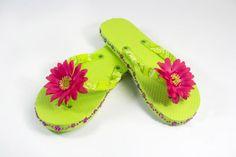 Bandana and Flower Flip Flops
