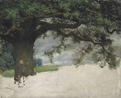 Lawrence Alma-Tadema (1836-1912), Study of an oak tree. Oil on canvas, 1900
