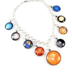 Planet Necklace - Statement Necklace, Pendant Necklace, Astronomy Solar System Necklace on Etsy, $99.99
