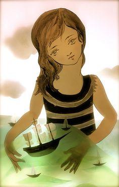 Dreams for weary sailors by Elly MacKay, via Flickr