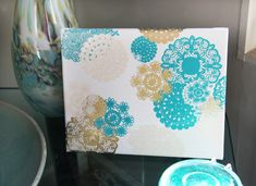 Doily Rub-ons & Mod Podge on Canvas