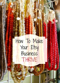 How To Make Your Etsy Business Thrive - make more money with your Etsy business! #etsy #wahm