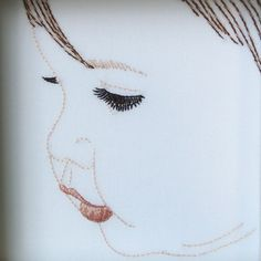 portrait embroidery...great gift or keepsake idea