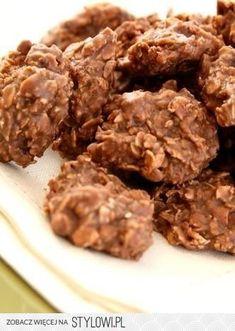 Składniki: • pół kostki masła (125 g) • 1,5 szklanki cu… na Stylowi.pl Chocolate Oatmeal Cookies, Aioli, Oreo, Risotto, Almond, Cereal, Meat, Breakfast, Food