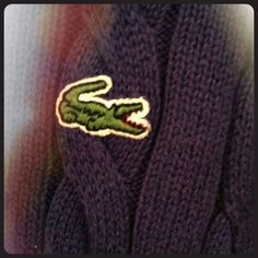Lacoste Cable Knit Sweater NWOT Navy cable knit sweater.  100% cotton Lacoste Sweaters