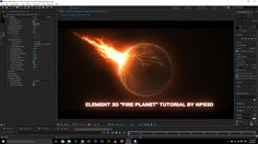 """AFTER EFFECTS ELEMENT 3D """"FIRE PLANET"""" TUTORIAL BY NPS3D"""