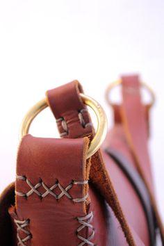 Leather messenger bag. iPad bag. man bag. door underthetreeithaca