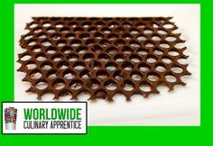 bubble wrap_chocolate honey comb cake topper video. Spread tempered chocolate, thinly, over bubble wrap, let cool, then remove from wrap. poke hole out with a toothpick to create honeycomb effect