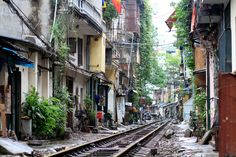 Homes on the Train Tracks, Hanoi | Flickr - Photo Sharing!