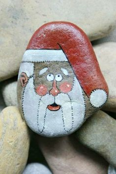 Santa Claus Father Christmas Hand Painted by RockPaperScissors111, $21.99