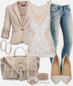 Stylish Outfit With Jeans And Blazer