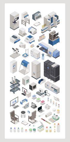 Illustrations réalisées pour des applications Ipad Biomerieux.