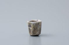 """Ken Matsuzaki, Sake cup, yohen natural ash glaze, Stoneware, 2.5 x 2.5 x 2.5"""", MK959"""