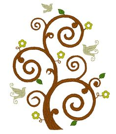 Tree of Life machine embroidery designs - multiple sizes for hoop 4x4, 5x7 - INSTANT DOWNLOAD on Etsy, $3.49